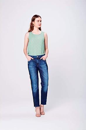 Damyller Calça Jeans Boyfriend Efeitos Laterais Tam: 32 / Cor: BLUE