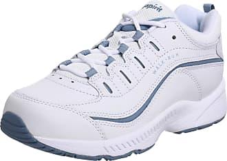 Easy Spirit Womens Romy Sneaker, White/Medium Blue Leather, 6.5 C/D UK