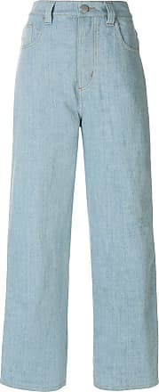 Koché stripe detail wide leg jeans - Blue
