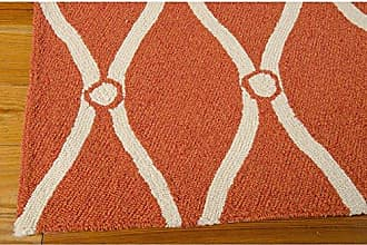Nourison Rug Squared Maui Indoor/Outdoor Area Rug (MAU02), 5-Feet by 7-Feet 6-Inches, Orange