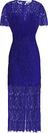 Diane Von Fürstenberg Diane Von Furstenberg Woman Guipure Lace Midi Dress Royal Blue Size 6