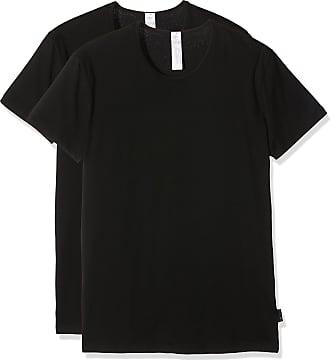 sloggi Mens Men 24/7 Sh 03 O-neck 2p Vest, Black (Noir), Medium (Manufacturer size: 3)