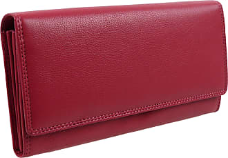 Visconti Ladies Larger LEATHER Purse Wallet by Visconti; Heritage Collection Gift Boxed (Fuchsia)