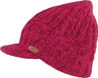 KuSan Cable Knit Peaked Beanie Hat - Pink 1-Size