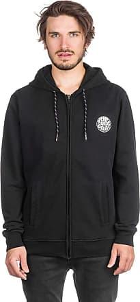 Rip Curl Original WEETY Fleece Men,Sweat Jacket,Zip Hoodie with Hood and Zipper,Cotton Fleece,Black,XL