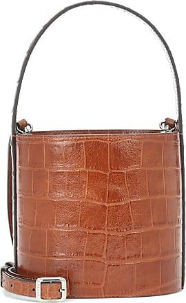 Staud Bissett croc-effect leather bucket bag