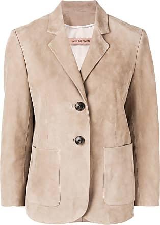 Yves Salomon leather blazer - NEUTRALS