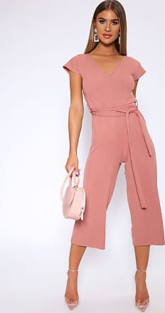 a63bbd42569 I Saw It First Pink Wide Leg Ribbed Jumpsuit - XXL   PINK