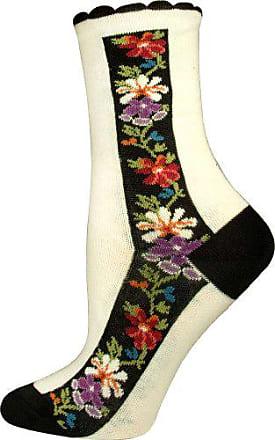 Ozone Womens Nordic Stripe Socks,Cream,Medium