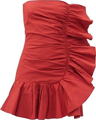 Red Valentino Strapless Ruffled Taffeta Dress - Womens - Red