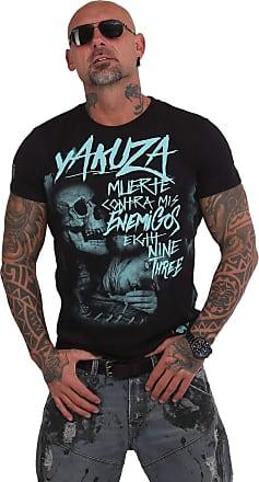 Yakuza Muerte Skull Mens T-Shirt - Black - Large