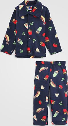 Tip Top Pijama Tip Top Longo Infantil Fast Food Azul-Marinho