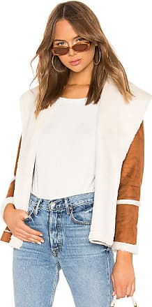 Chaser Faux Fur Lined Suede Jacket in Cognac