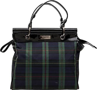 Jean Paul Gaultier Bag In Prince De Galles Canvas And Black Patent Leather ef4af448eebe