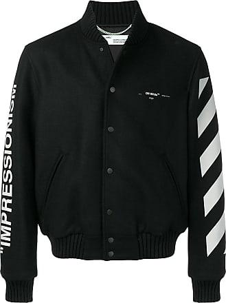 ff998f7b4ba Off-white diagonal stripe varsity jacket - Black