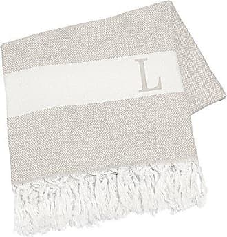 Cathy's Concepts Personalized Turkish Throw, Letter L, Beige
