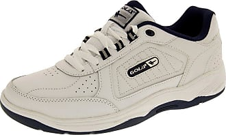 Gola AMA203 Belmont Lace Up Wide Fit Mens Shoes - White/Navy - UK 12 - EU 46 - US 13