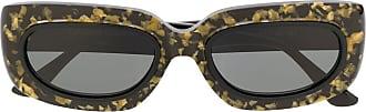 George Keburia Óculos de sol retangular com padronagem - Preto