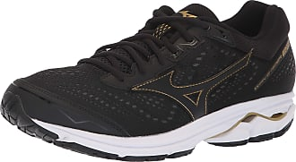 Mizuno Mens Wave Rider 22 Running Shoe, Black/Gold, 6.5 UK