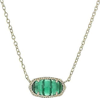Kendra Scott Elisa Birthstone Necklace (December/Gold/London Blue Clear Glass) Necklace