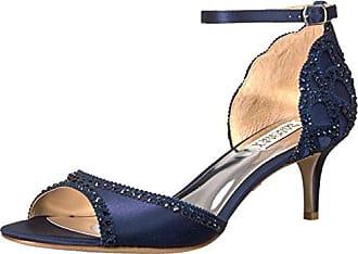 Badgley Mischka Womens Gillian Heeled Sandal, Midnight, 8.5 M US