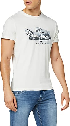 Pepe Jeans London Mens Bobby T-Shirt, Off-White (Mousse 808), XX-Large