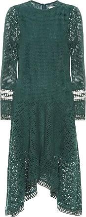 See By Chloé Asymmetric lace midi dress