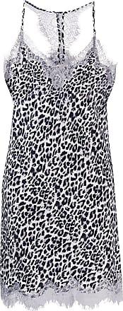 Gold Hawk leopard print slip mini dress - Cinza