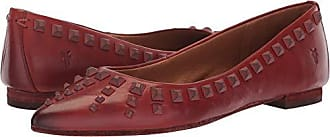Frye Womens Sienna Deco Stud Ballet Flat, red Clay, 7 M US