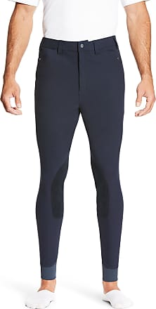 Ariat Mens Heritage Knee Patch Riding Breech in Navy Cotton, Size 30, by Ariat