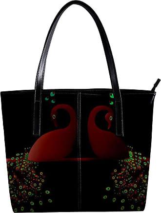 Nananma Womens Bag Shoulder Tote handbag Zipper Purse Top-handle Zip Bags - Peacock
