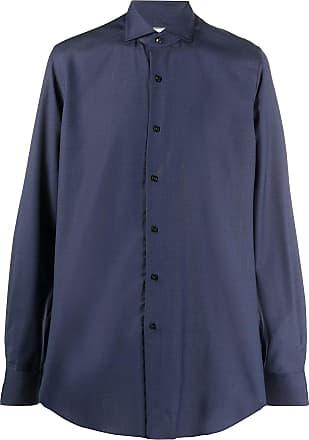Xacus plain buttoned shirt - Blue