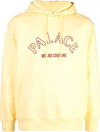 Palace Moletom com logo e capuz - Amarelo