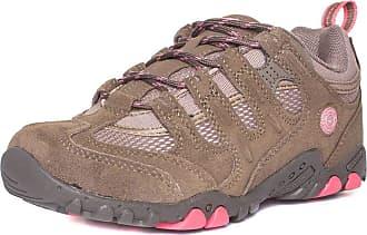 Hi-Tec Womens Beige Lace Up Walking Shoe - Size 4 UK - Brown