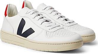 Leather SneakersWhite V Veja trimmed 10 Rubber qUMzGVSp