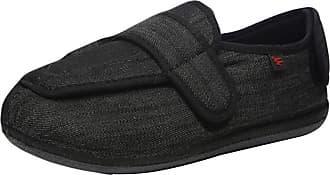 Insun Unisex Extra Wide Slipper Orthopaedic Memory Foam Shoes Grey 11 UK Wide Women/11.5 UK Wide Men