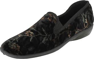 Spot On Ladies Spot On Slip On Slippers X2015 - Black - UK Size 7- EU Size 40