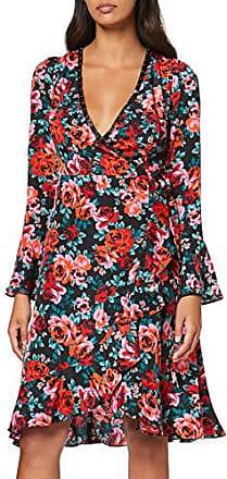 Guess Ela Dress -   Kleid mit floralem Muster Schwarz