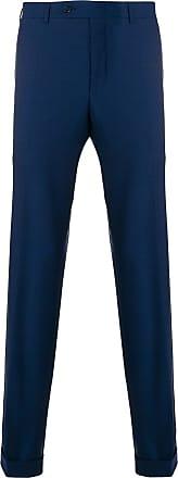 Canali Calça com barra dobrada - Azul