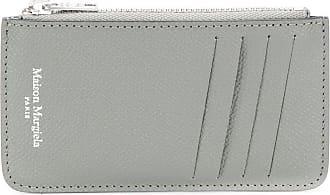 Maison Margiela Porta-cartões com zíper e estampa de logo - Cinza