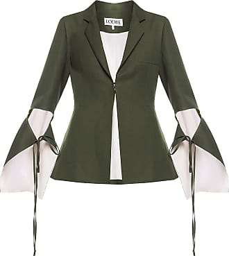 Loewe Notch Lapel Blazer Womens Green