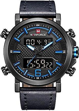 NAVIFORCE Relógio Masculino Naviforce 9135 (Preto Azul)