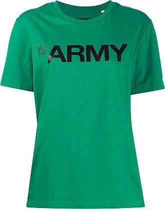 Yves Salomon - Army logo print crewneck T-shirt - Green