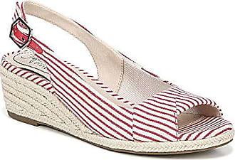 b774b5c839a534 Life Stride Womens Socialite Espadrille Wedge Sandal Red White 9.5 M US