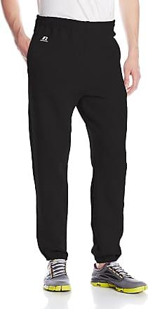 Russell Athletic Mens Dri-Power Closed-Bottom Sweatpants with Pockets,Black,Medium