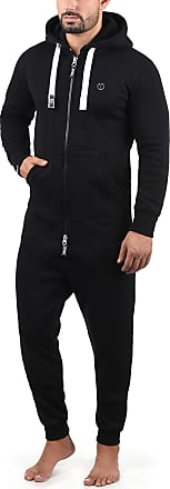 Solid Benn Mens Overall Onesie Hooded Jumpsuit, Size:L, Colour:Black (9000)