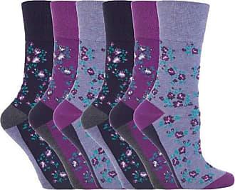 SockShop 6 Pairs of Sock Shop Everyday Gentle Grip Socks Ladies 4-8 See Multi Variations and Designs (6 x RH57)