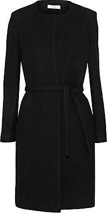 Iro Iro Woman Kila Brushed Wool-blend Twill Coat Black Size 40