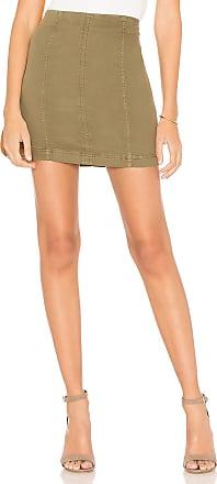 1dc5946c3 Free People Modern Femme Denim Mini Skirt in Green