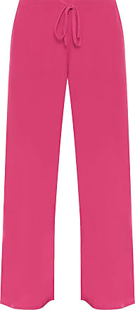 WearAll New Ladies Plus Size Palazzo Trousers Womens Baggy Flared Wide Leg Pants Cerise 26/28